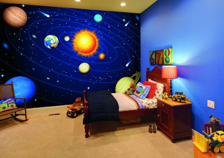 Gorgeous Space Themed Bedroom