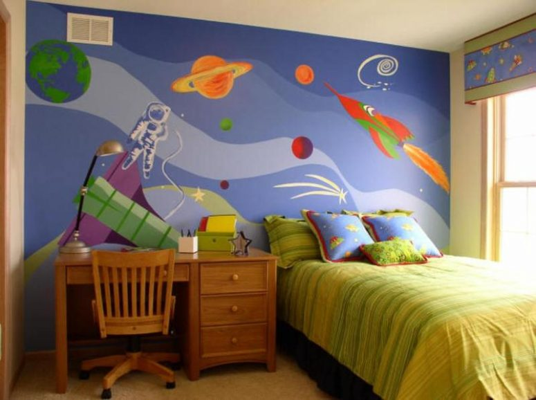 More Space Themed Bedroom Design Ideas