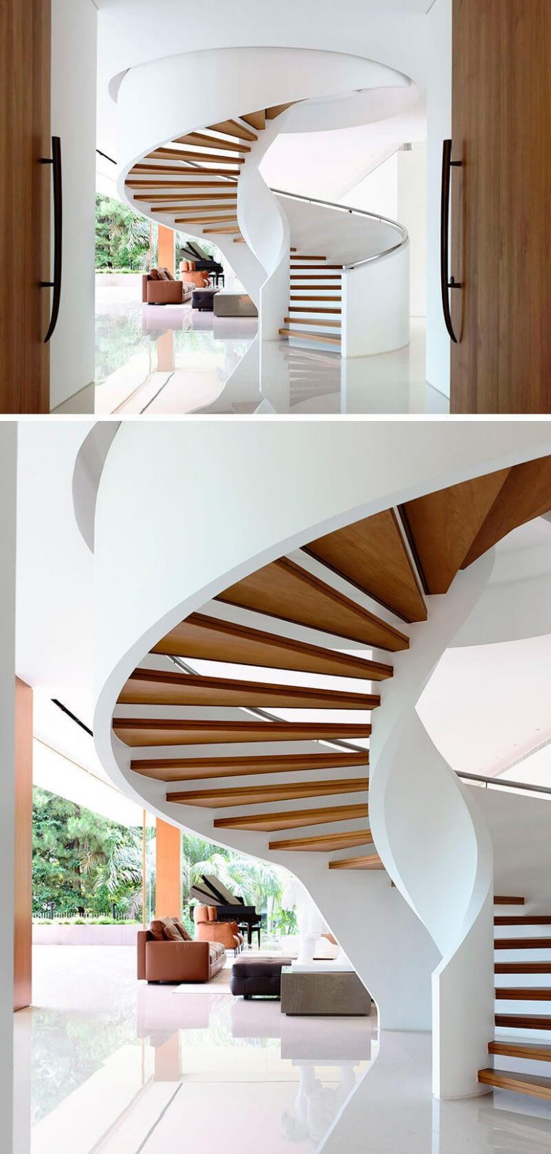 50 uniquely awesome spiral staircase ideas for your home for Spiral staircase options