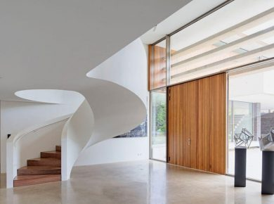 Spiral Staircase Ideas - White And Wood Spiral Stairs 030317 949 13