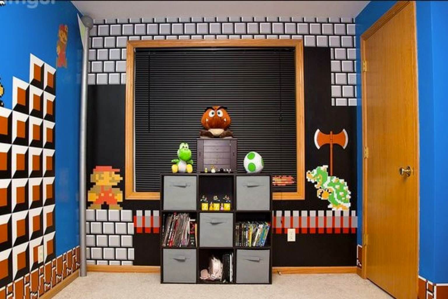 Super Mario Themed Game Room Ideas
