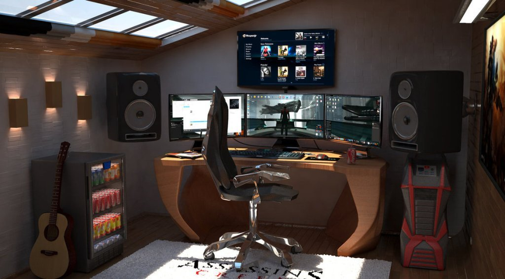 50 best setup of video game room ideas a gamer 39 s guide for Apartment bedroom setup ideas