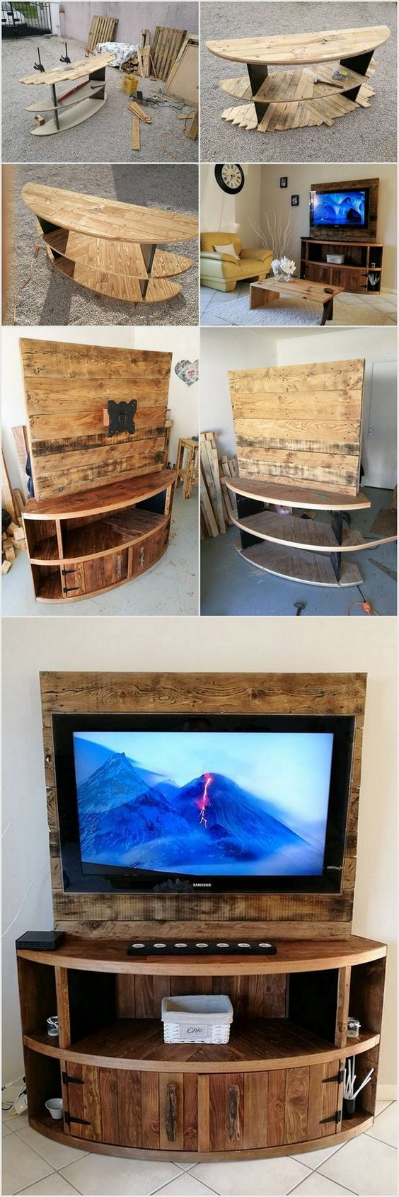 Diy Tv Stand From Cable Drum