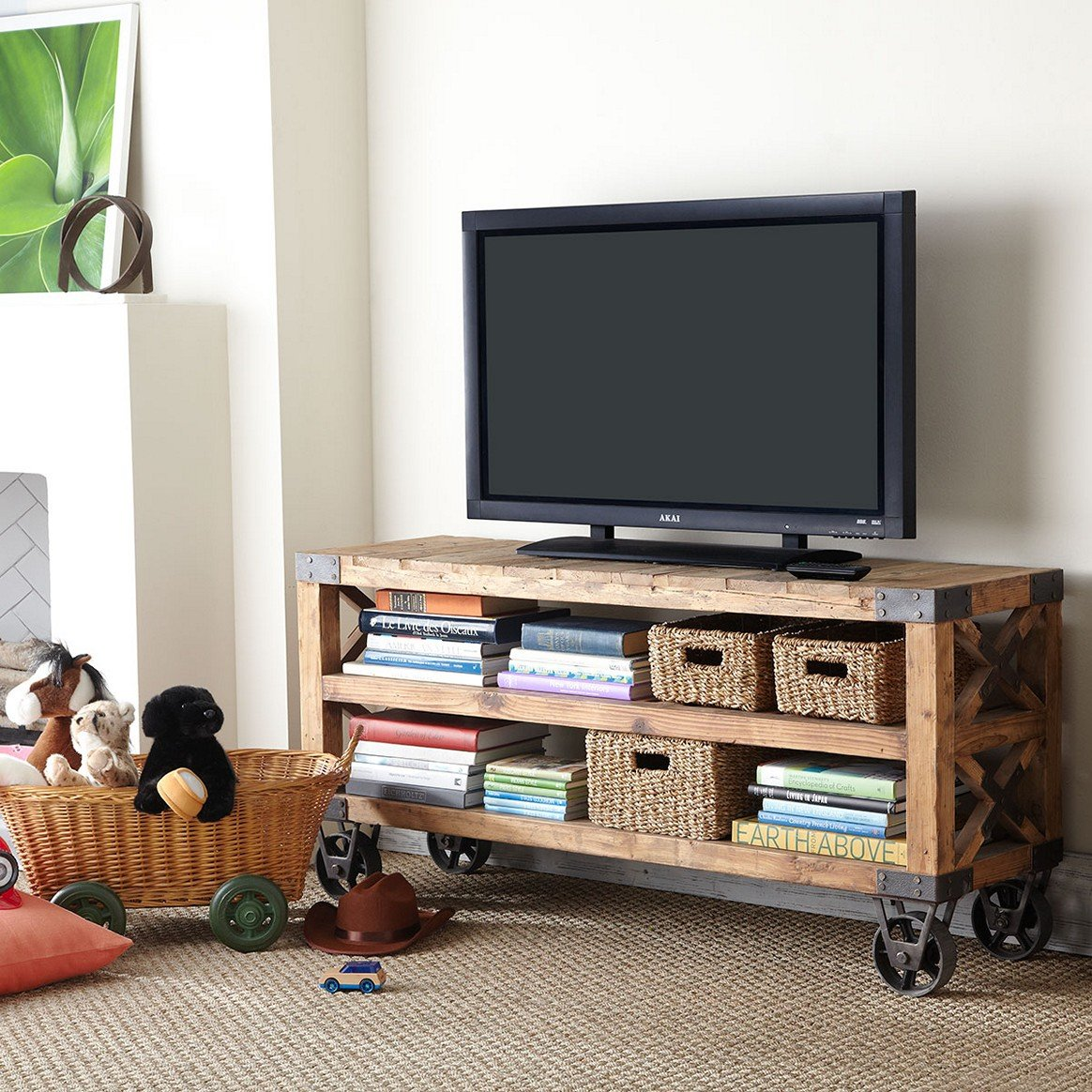 21 Diy Tv Stand Ideas For Your Weekend Home Project # Meuble Tv Console
