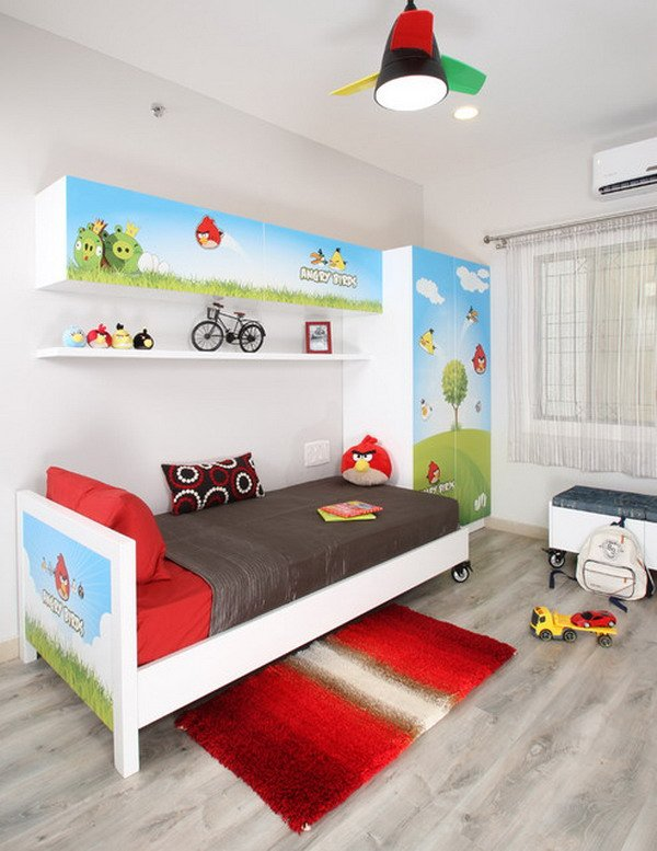Angry Birds Themed Bedroom