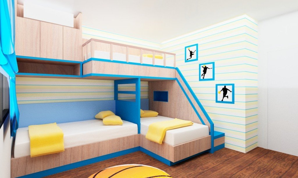 Triple Bunk Beds For Large Room
