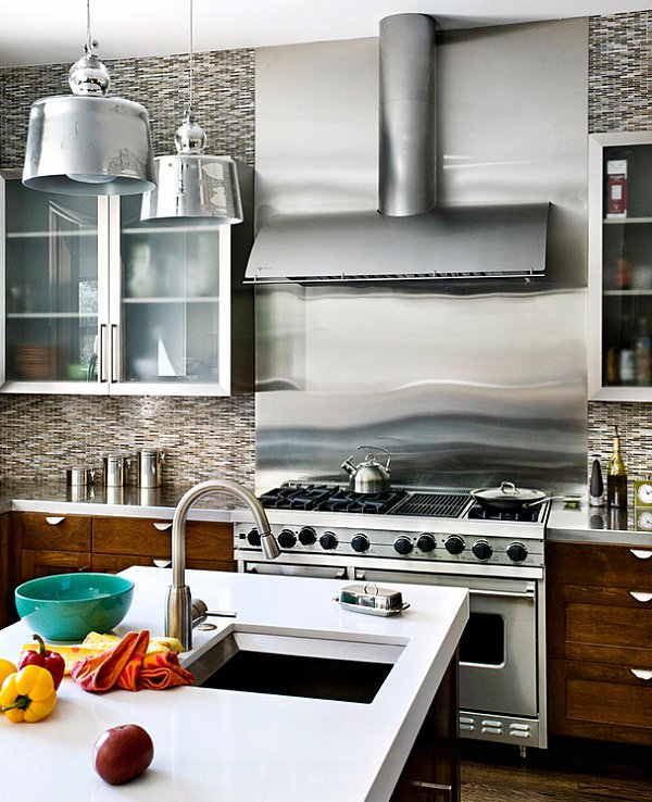Surprising Stainless Steel Backsplash The Pros And The Cons Download Free Architecture Designs Intelgarnamadebymaigaardcom