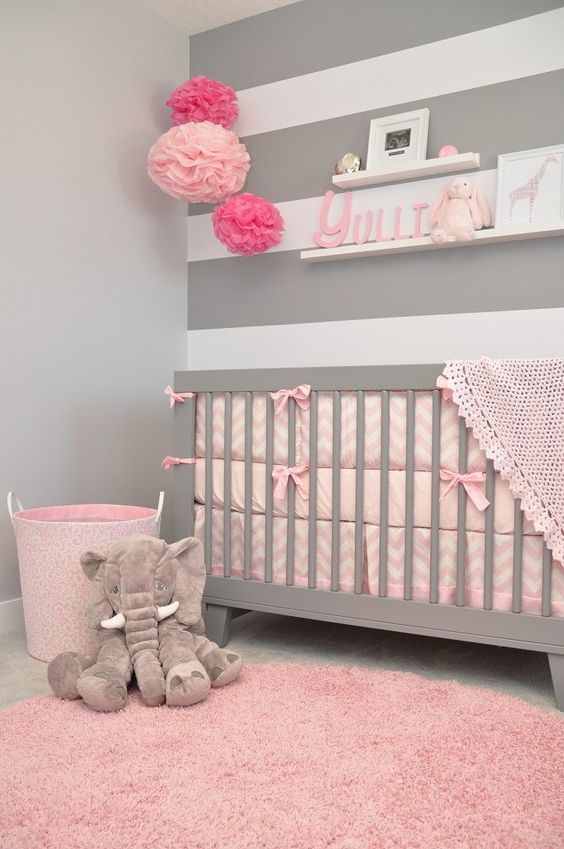 Beautiful Stripes Baby Room Decoration