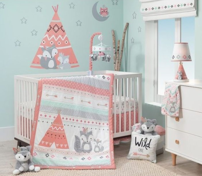 Delightful Blue Baby Girl Nursery Ideas