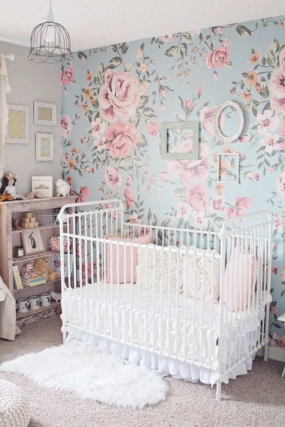 33 most adorable nursery ideas for your baby girl Calming colors for baby nursery