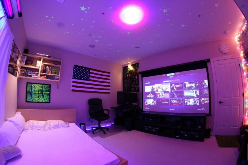 50+ Best Setup of Video Game Room Ideas [A Gamer's Guide] Teen Room Led Strip Lighting Ideas Html on