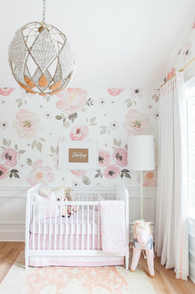 Floral Themed Nursery For Girl Baby