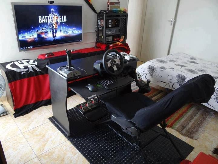 50 best setup of video game room ideas a gamer 39 s guide for Cool gamer bedroom ideas