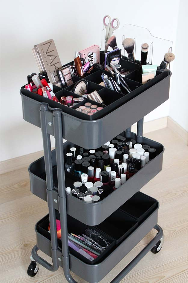 diy makeup storage shoe box