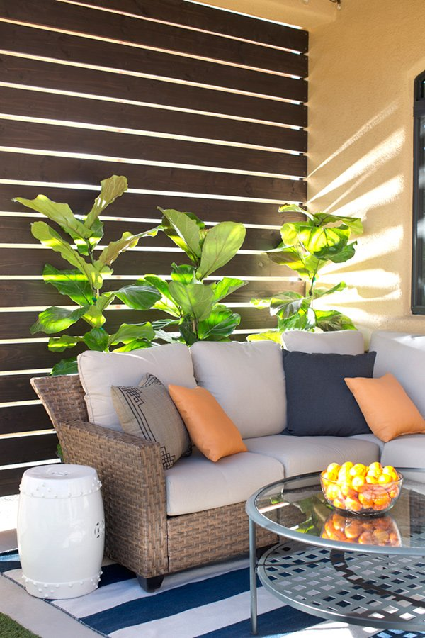 modern patio privacy screen