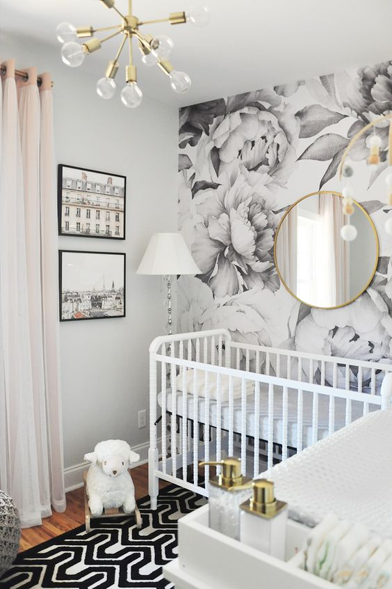Rather Of Staying With A Single Tone This Monochromatic Nursery Includes Little Pop To Its Soft White Combination By Presenting Plain Accents