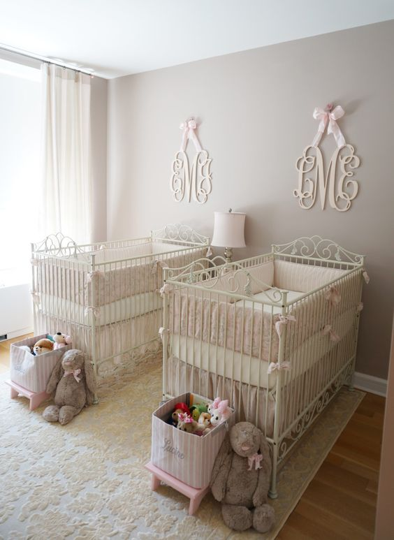 15. Twin Baby Girl Room Ideas