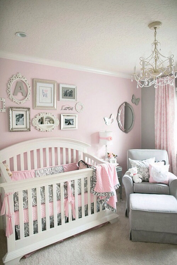 Grey And Pink Baby Room Ideas