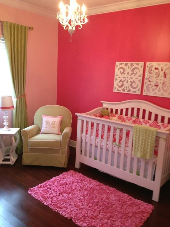 White And Pink Baby Room Ideas