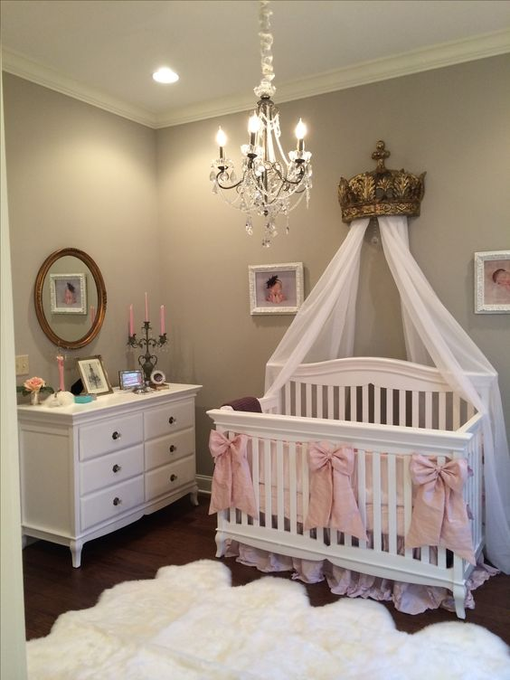 High Quality Queen Themed Baby Girl Room Ideas