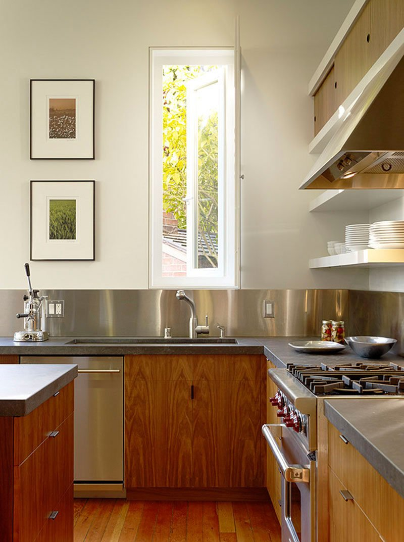 stainless steel backsplash the pros and the cons. Black Bedroom Furniture Sets. Home Design Ideas