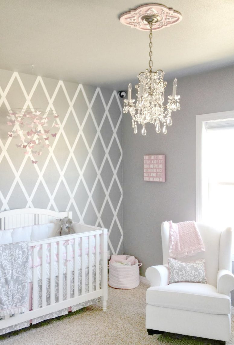 Grey baby girl room ideas