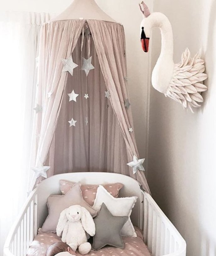 Simple Decorating Girl Nursery Design: 8. Swan Baby Girl Nursery Ideas