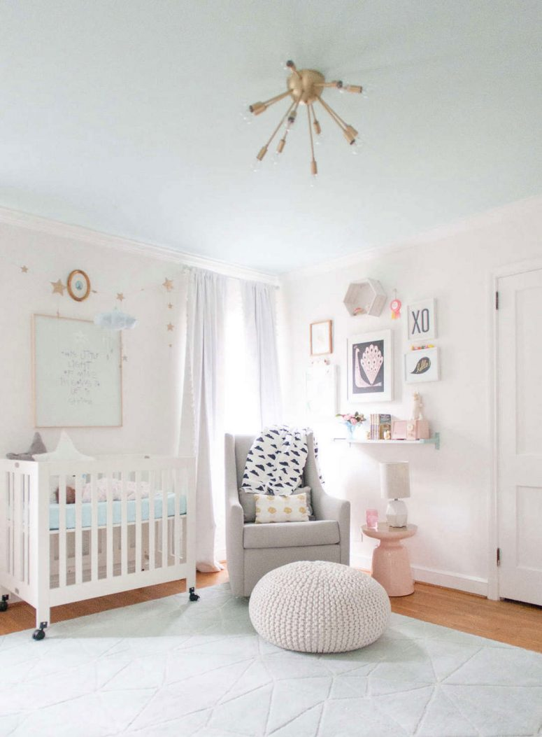Baby Girl Nursery White 33 Most