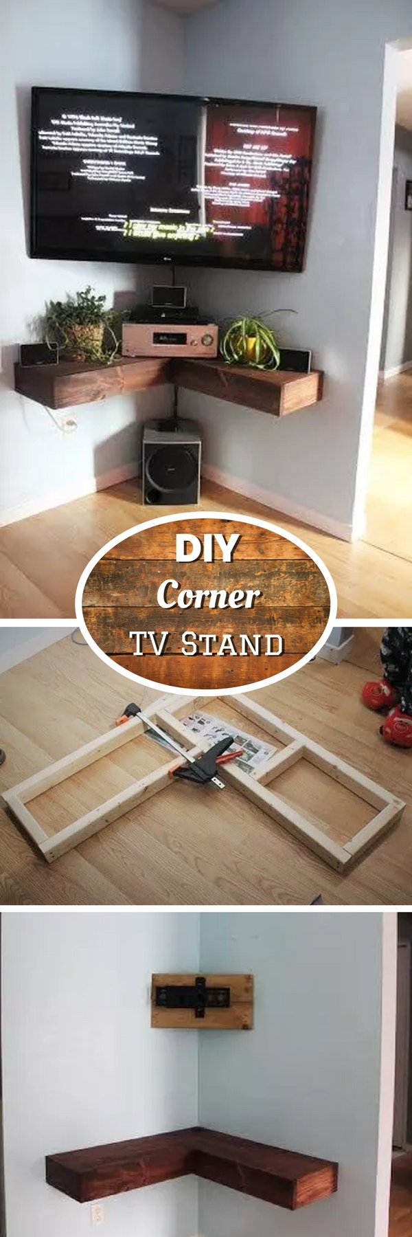 21 Diy Tv Stand Ideas For Your Weekend Home Project # Meuble Tv Gamer