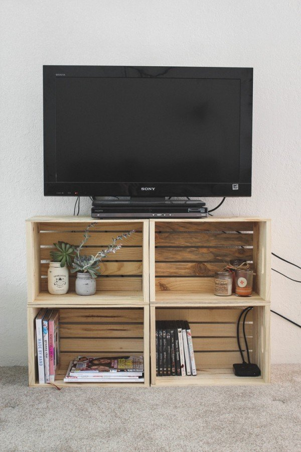 tv stand ideas 21 diy tv stand ideas for your weekend home project 29781