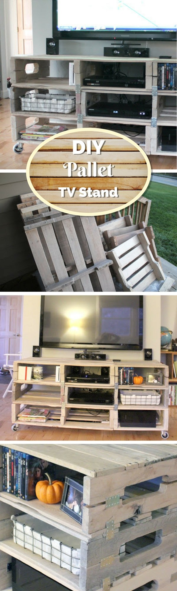 21 Diy Tv Stand Ideas For Your Weekend Home Project # Meuble Support Tv