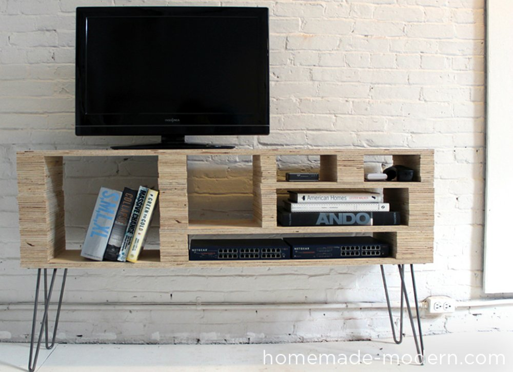 21+ DIY TV Stand Ideas for Your Weekend Home Project