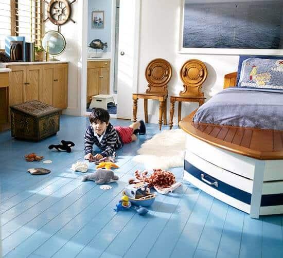 Bedroom Style Ideas - Playful Kids Bedroom Nautical Style