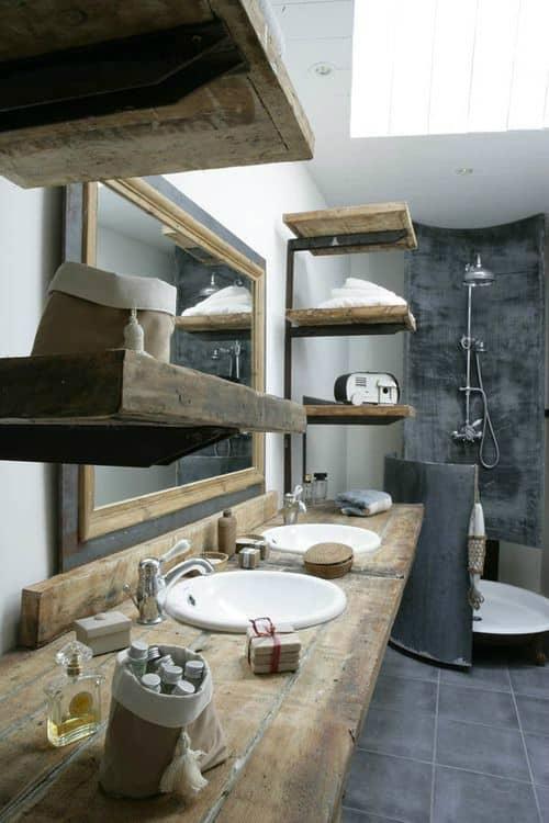 Open Vanities And Shelves