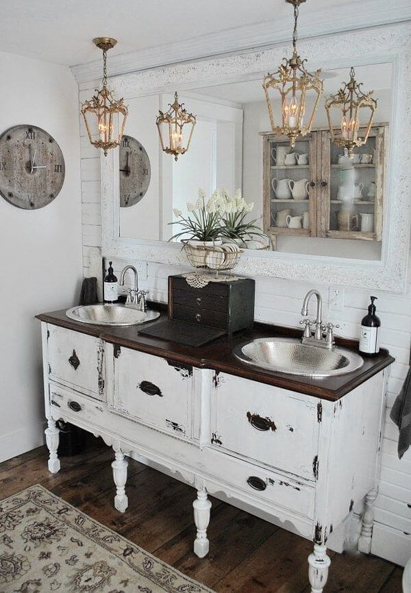 30+ Rustic Bathroom Vanity Ideas That Are on Another Level