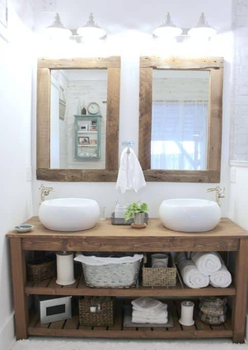 rustic bathroom vanity plans
