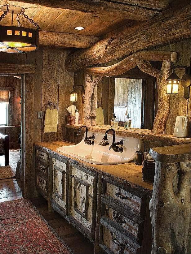 rustic bathroom vanities lowes
