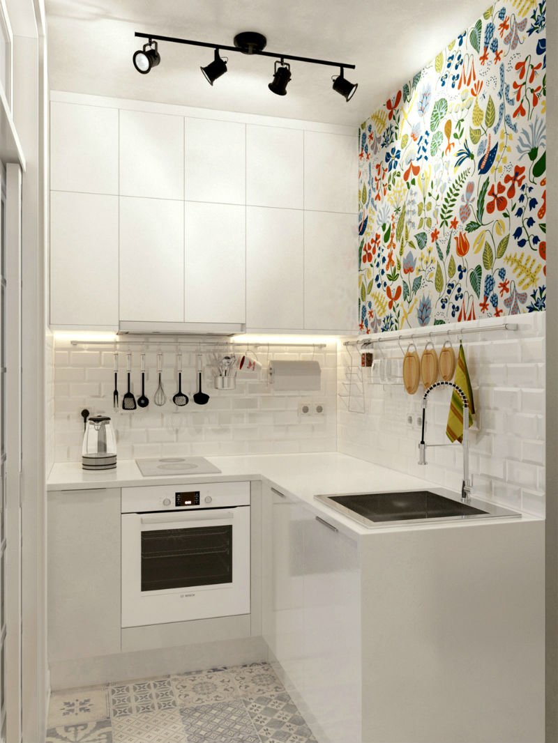 Perfect Small White Kitchen