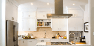 granite countertop and stovetop