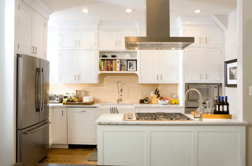 Full Hob Kitchen ~ White kitchen picture ideas cabinets islands