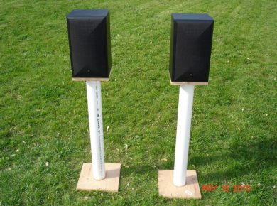 26 Creative Diy Speaker Stand Ideas (Easy To Make) - Diy Separated Pvc Speaker Stand
