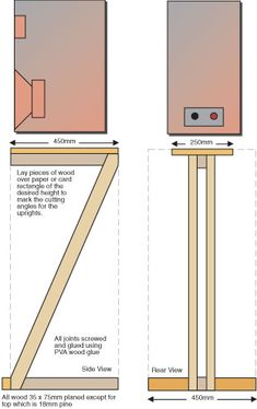 26 Creative Diy Speaker Stand Ideas (Easy To Make) - Z Shaped Speaker Stand Plan