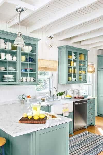 24 Blue Kitchen Cabinet Ideas To Breathe Life Into Your Kitchen - Blue Kitchen Cabinet Ideas Donpedrobrooklyn 55