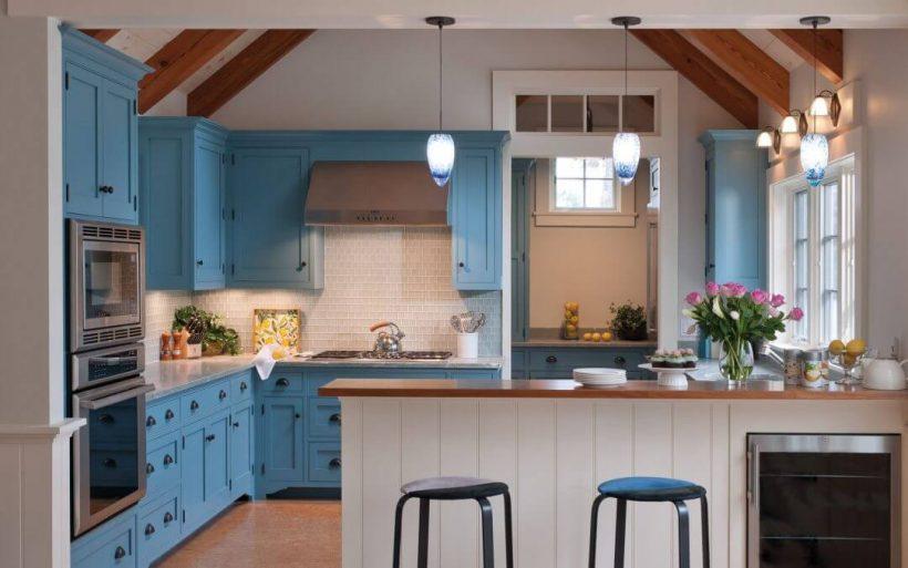 24 Blue Kitchen Cabinet Ideas To Breathe Life Into Your Kitchen - Blue Kitchen Cabinet Ideas Donpedrobrooklyn 57
