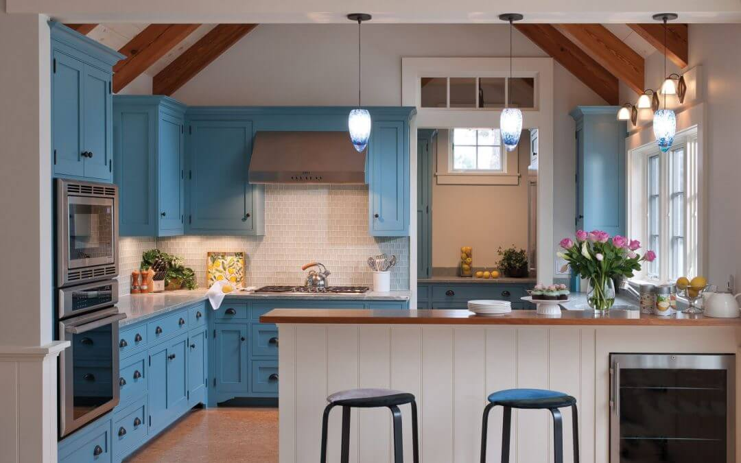 48 Blue Kitchen Cabinet Ideas To Breathe Life Into Your Kitchen Simple Blue Kitchen Designs