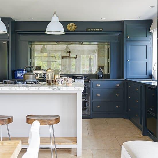 24 Blue Kitchen Cabinet Ideas To Breathe Life Into Your Kitchen - Blue Kitchen Cabinet Ideas Donpedrobrooklyn 58