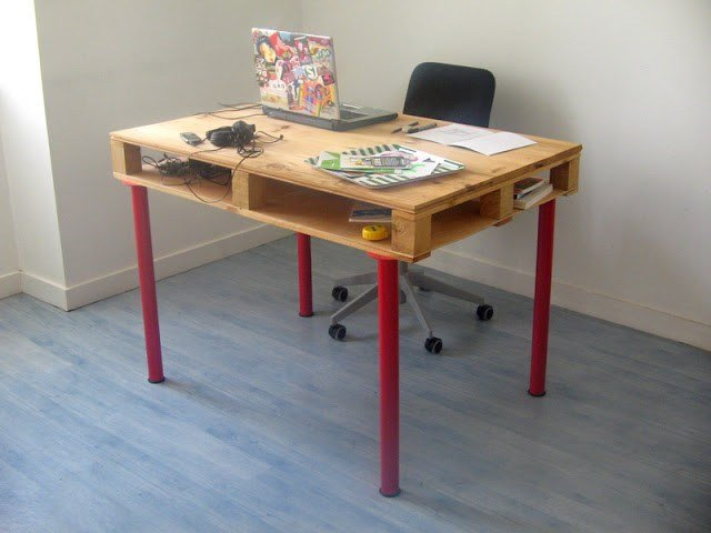 Ordinaire DIY Computer Desk From Wood Pallet