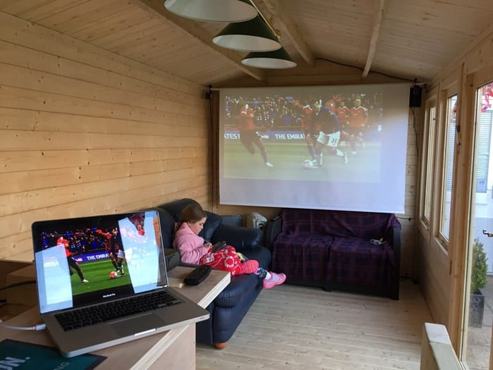 storage shed turned into playhouse