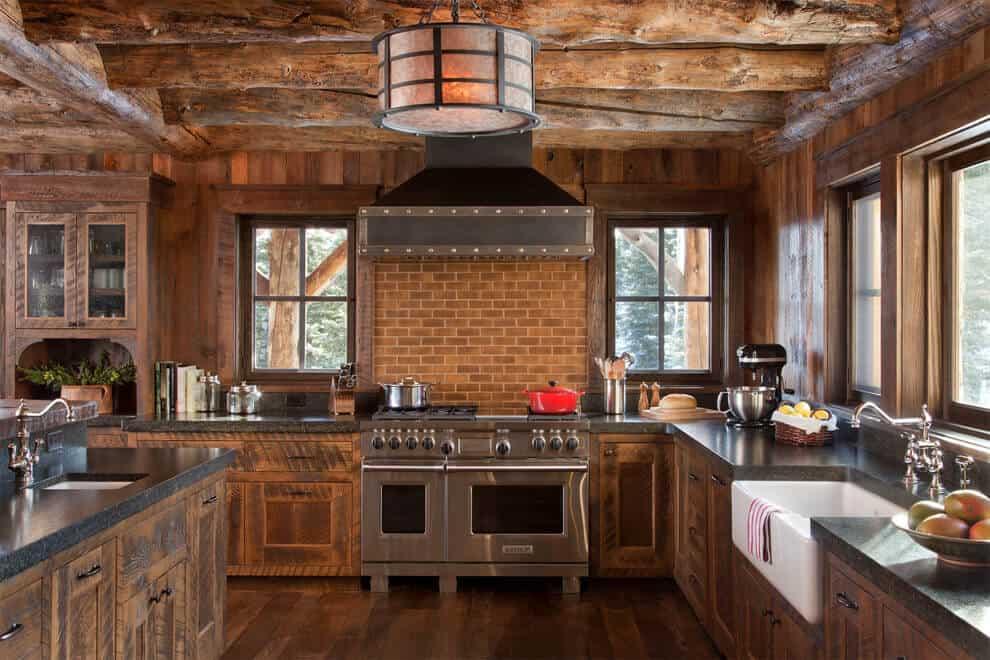 modern rustic kitchen cabinet