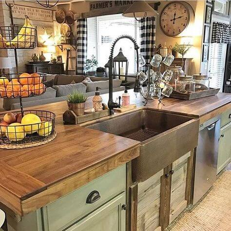 Rustic Kitchen Countertop